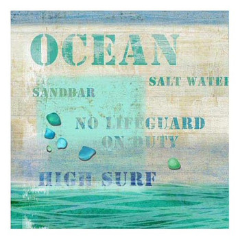 Multiple Sayings Ocean Vintage Style Metal Sign