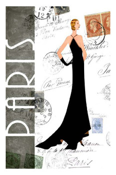 Custom Paris Fashion Vintage Style Metal Sign