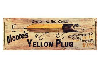 Custom Moores Yellow Plug Vintage Style Metal Sign