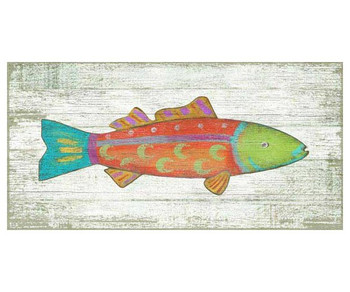 Funky Orange Fish Vintage Style Metal Sign