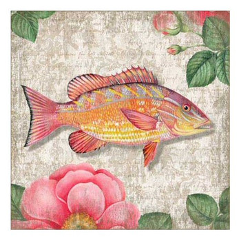 Yellow Snapper Fish Vintage Style Metal Sign
