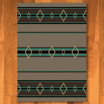 8' x 11' Old Timer Turquoise Southwest Rectangle Rug