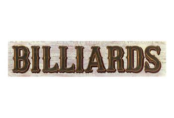 Custom Billiards Vintage Style Metal Sign