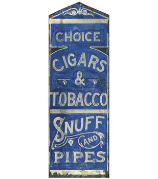 Custom Choice Cigars Tobacco & Pipes Vintage Style Metal Sign