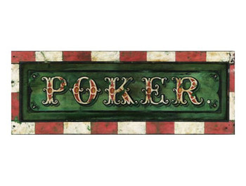 Custom Poker Vintage Style Metal Sign