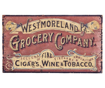 Custom Westmoreland Grocery Company Vintage Style Metal Sign