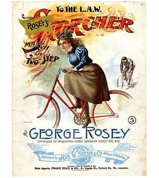 Custom Large George Rosey Scorcher Vintage Style Metal Sign