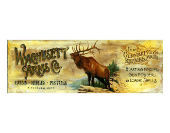 Custom Wachusett Arms Co Vintage Style Metal Sign