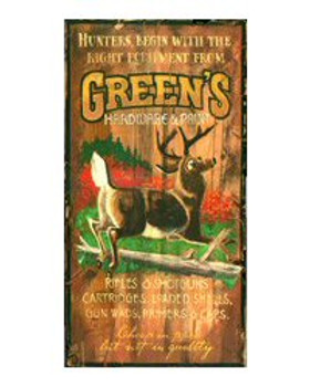 Custom Hunting Camp Vintage Style Metal Sign
