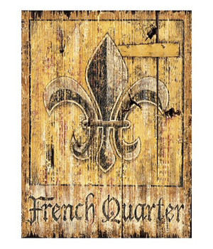 Custom French Quarter Vintage Style Metal Sign