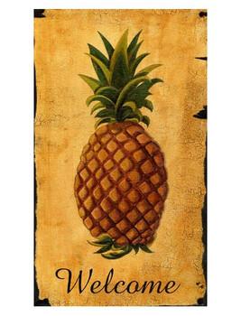 Custom Pineapple Vintage Style Metal Sign