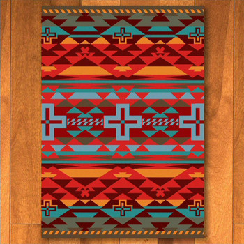 8' x 11' Rustic Cross Sunset Southwest Rectangle Rug