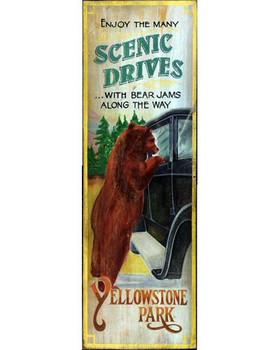 Custom Bear Jams Yellowstone Park Vintage Style Metal Sign