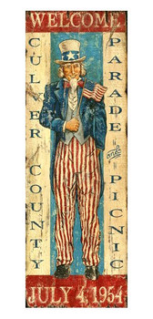 Custom Uncle Sam Vintage Style Metal Sign