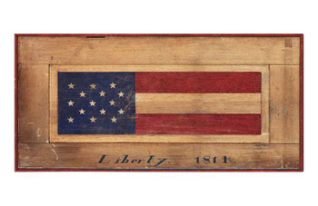 Custom Flag Liberty 1814 Vintage Style Metal Sign