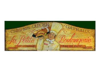 Custom La Petite Boulangerie Vintage Style Metal Sign