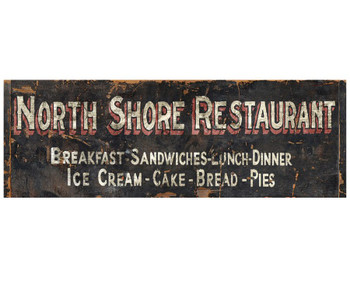 Custom North Shore Restaurant Vintage Style Metal Sign
