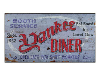 Custom Yankee Diner Vintage Style Metal Sign
