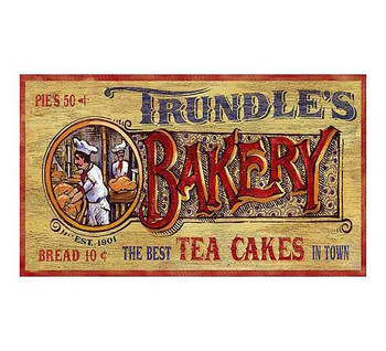 Custom Trundles Bakery Vintage Style Metal Sign
