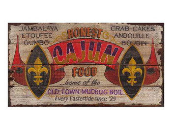 Custom Honest Cajun Food Vintage Style Metal Sign