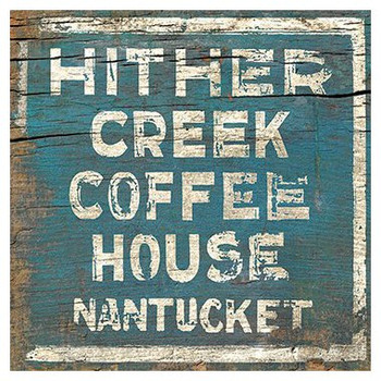 Custom Hither Creek Coffee House Vintage Style Metal Sign