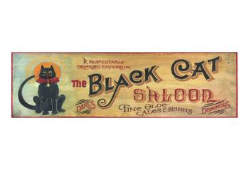 Custom Black Cat Saloon Vintage Style Metal Sign