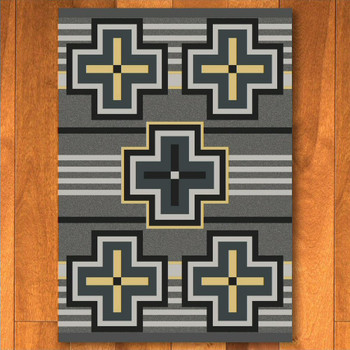8' x 11' Bounty Gray Southwest Rectangle Rug