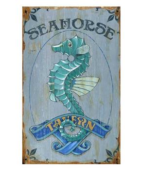 Custom Seahorse Tavern Vintage Style Metal Sign