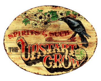 Custom The Upstart Crow Spirits and Such Vintage Style Metal Sign