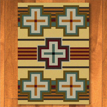 8' x 11' Bounty Maize Southwest Rectangle Rug