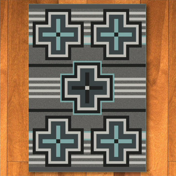8' x 11' Bounty Turquoise Southwest Rectangle Rug