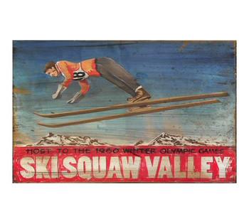 Custom Ski Squaw Valley Winter Olympics Vintage Style Metal Sign