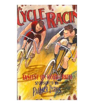 Custom Cycle Racing Vintage Style Metal Sign