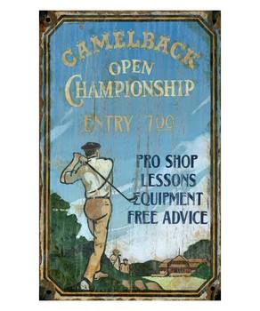 Custom Camelback Golf Vintage Style Metal Sign