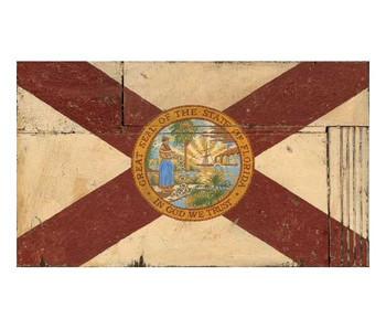 Custom Florida Flag Vintage Style Metal Sign