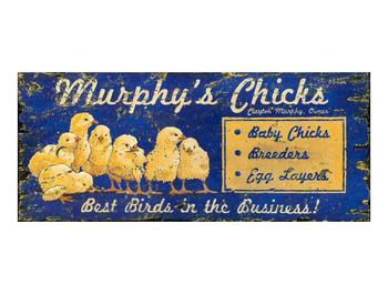 Custom Murphys Chicks Vintage Style Metal Sign