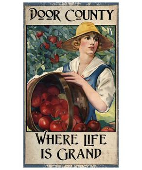 Custom Apple Harvest Vintage Style Metal Sign