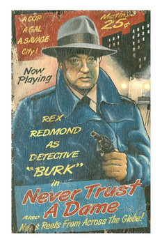 Custom Rex Redmond as Detective Burke Vintage Style Metal Sign