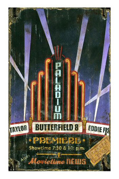 Custom Paladium Theater Vintage Style Metal Sign