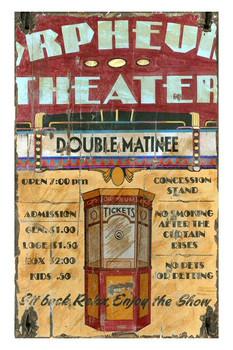 Custom Orpheum Theater Vintage Style Metal Sign