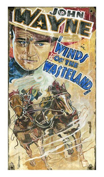 Custom John Wayne Winds of the Wasteland Vintage Style Metal Sign