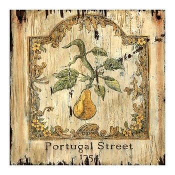 Custom Pear 1754 Portugal Street London Vintage Style Metal Sign