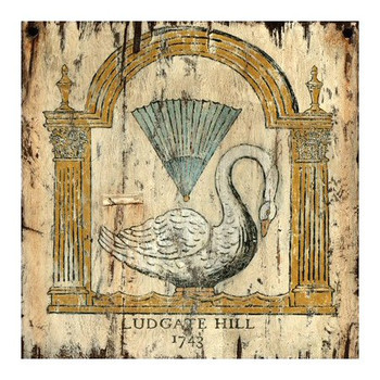 Custom Swan 1743 Ludgate Hill London Vintage Style Metal Sign
