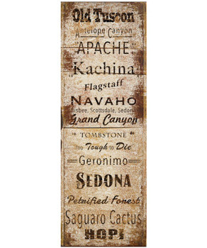 Custom Arizona Towns and Places Vintage Style Metal Sign