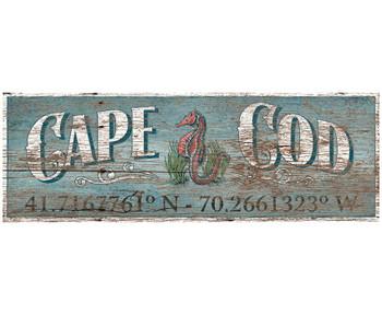 Custom Cape Cod Latitude Vintage Style Metal Sign