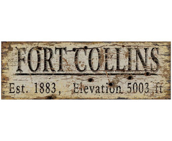Custom Fort Collins Est. 1883 Vintage Style Metal Sign