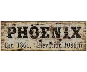 Custom Phoenix Est. 1861 & Elevation Vintage Style Metal Sign
