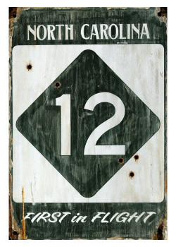 Custom Highway 12 North Carolina Vintage Style Metal Sign