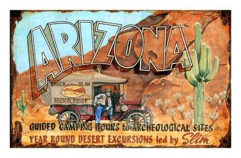 Custom Arizona Slim Vintage Style Metal Sign