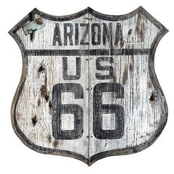 Custom Arizona Route 66 Cutout Vintage Style Metal Sign